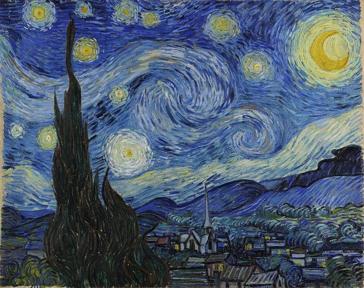 1200px Van Gogh Starry Night Google Art Project - Holanda cria ciclovia que brilha no escuro inspirada na arte de Van Gogh