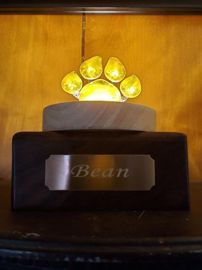 """empresa transforma cinzas de animais de estimacao em adoraveis patas de vidro1 - Empresa transforma cinzas de animais de estimação em adoráveis """"patas"""" de vidro"""