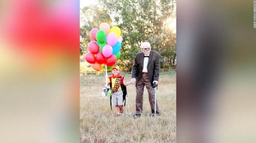 190913161742 02 boy grandparents up photoshoot super 169 1 - Garoto apaixonado por 'Up' convida seus bisavós de 90 anos para ensaio fotográfico de seu aniversário e fotos viralizam