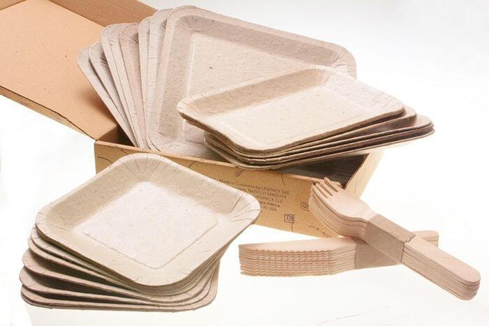 Talheres Biodegradáveis - Coroas de abacaxi se tornam pratos e talheres que podem ser plantadas após o uso