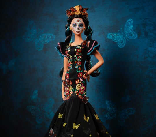 barbie dia de los muertos 1 - Barbie lança boneca em homenagem ao feriado mexicano Dia dos Mortos