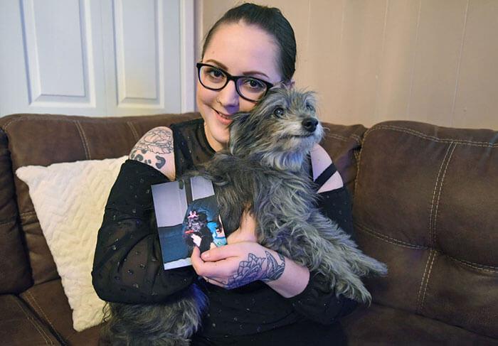 woman adopts childhood dog without knowing nicole grimes 11 5d7a51ad507ca  700 - Ao adotar cadela já adulta Nicole descobre que era sua melhor amiga de infância