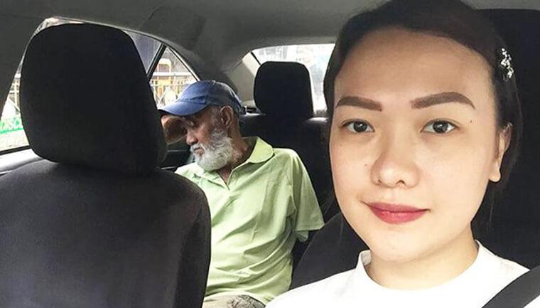 passageira dirige táxi - Passageira dirige táxi para motorista descansar após dia cansativo de trabalho