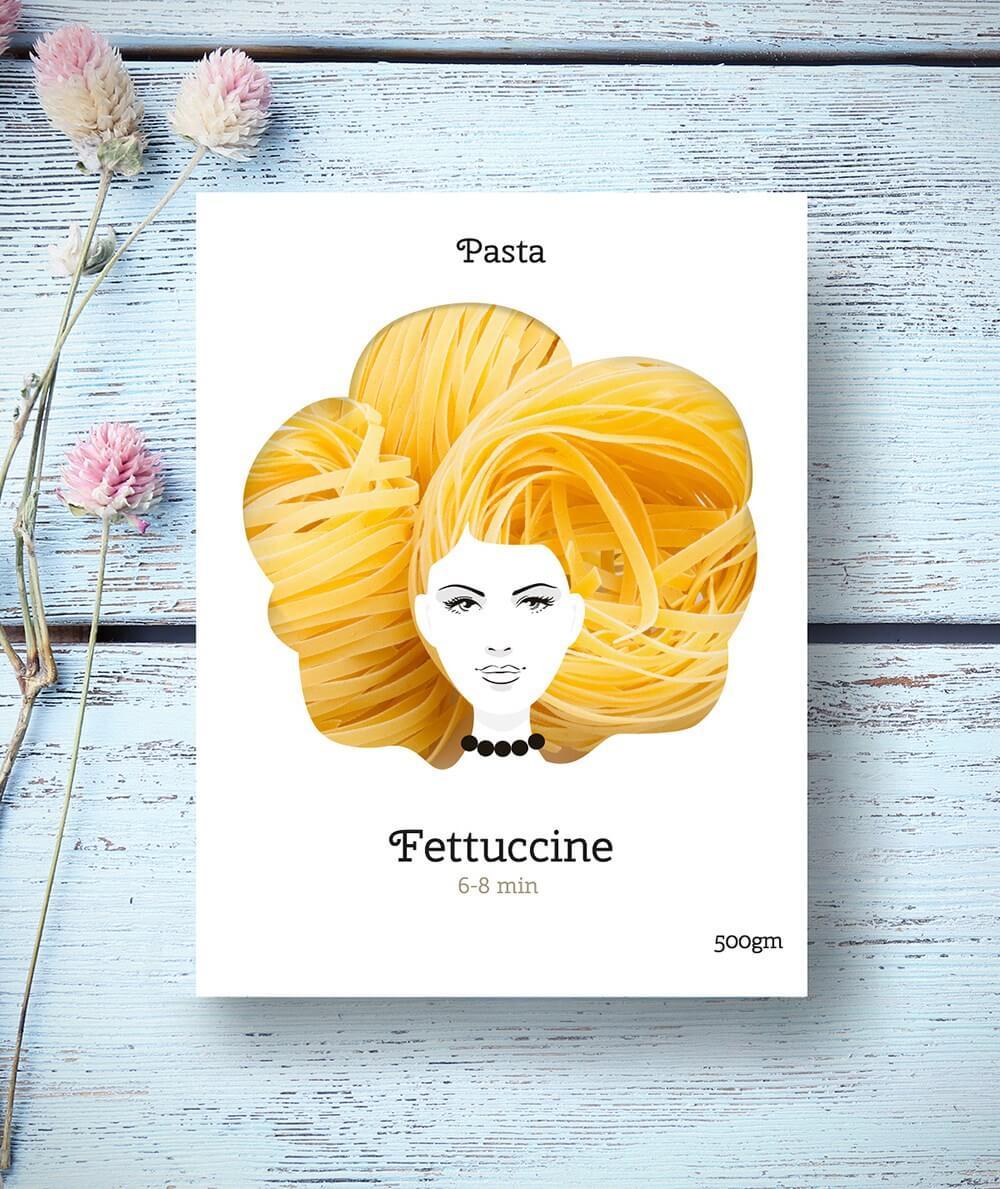 macarrao mulheres 1 - Designer cria embalagens de macarrão celebrando a diversidade do cabelo feminino