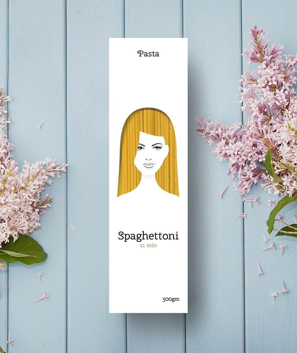 macarrao mulheres 3 - Designer cria embalagens de macarrão celebrando a diversidade do cabelo feminino