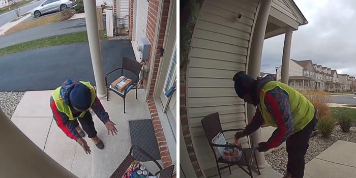 video amazon delivery man discovering snacks outside house 2 5de8cfc6549d5 700 - Mulher faz surpresa para entregador da Amazon e sua reação é inacreditável