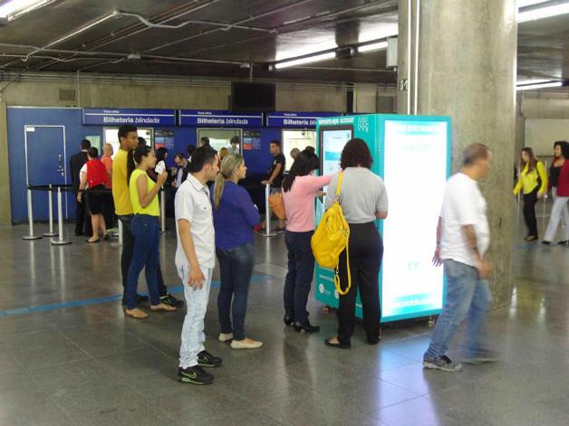 maquina8crop - SP dá início a projeto que troca garrafa pet por crédito em transporte público