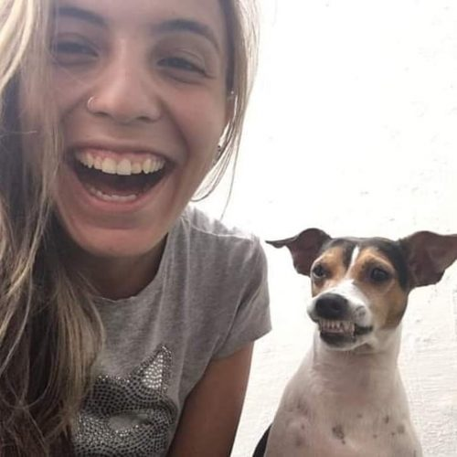 83342429 110876600477968 6550752365677095032 n 500x500 1 - Ela cuida de uma creche para cães e convidou esse cachorrinho para uma foto e olha o sorrisão que ele abriu