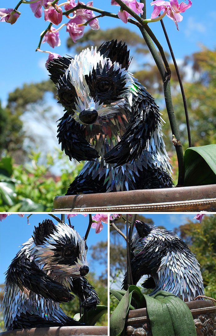 cd animal sculptures recycled art sean avery 68 5885c90619366 700 - Artista transforma CDs antigos em esculturas incríveis invés de jogá-los fora