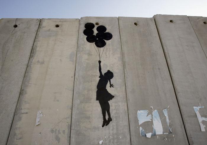 grafiteisrael - Coronavírus une Israel e Palestina em atos de solidariedade