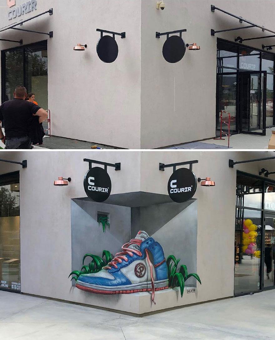 1 21 - Esse artista de rua é capaz de confundir a mente de qualquer um com suas belas artes ilusionistas
