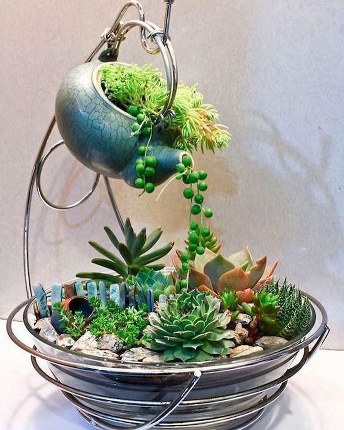 6 5e9846fbe3550 700 - Teacup Gardens, são jardins em xícaras e trouxemos 10 exemplos maravilhosos para vocês admirarem