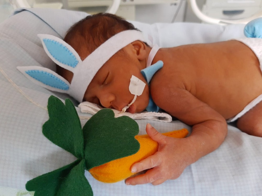 coelhinho2 - Bebês internados em UTI Neonatal ganham fantasias na Paraíba