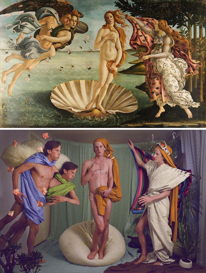 obra6 - Museu pede que recriem famosas obras de arte em suas casas e resultado é incrível
