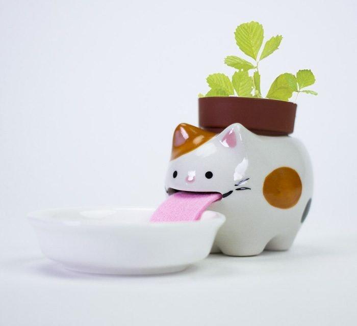 macetas animales 1 - Esses vasos bebem água e conseguem manter suas plantas regadas