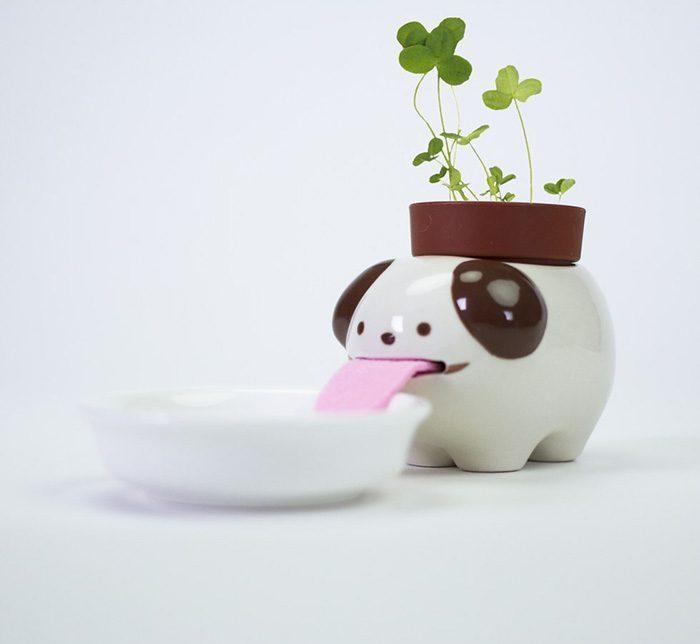 macetas animales 4 - Esses vasos bebem água e conseguem manter suas plantas regadas