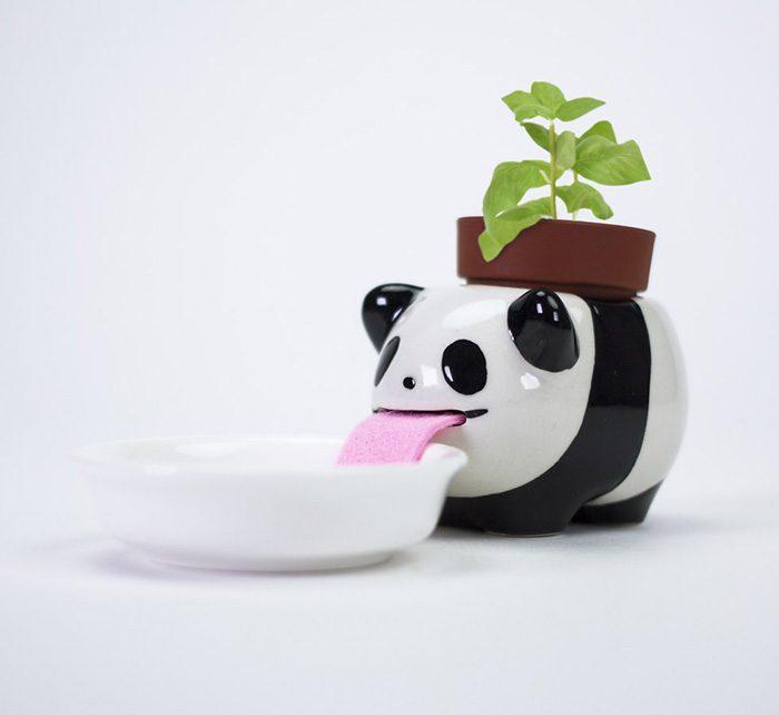 macetas animales 5 - Esses vasos bebem água e conseguem manter suas plantas regadas