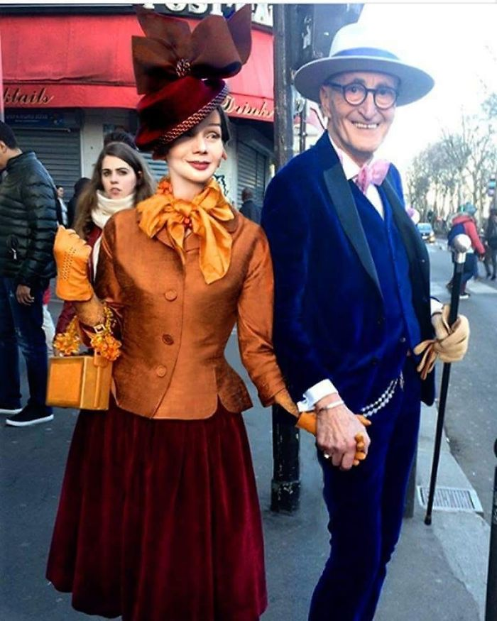 casal2 - Casal de idosos vira ícone de moda ao sair para passear sempre com estilo