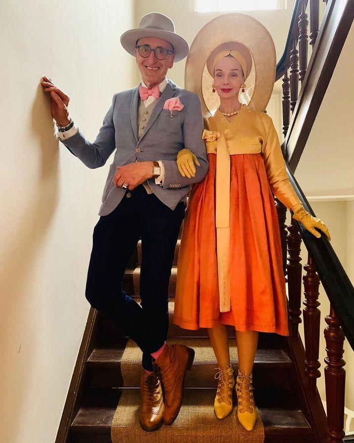 casal7 - Casal de idosos vira ícone de moda ao sair para passear sempre com estilo