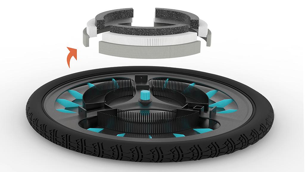 filtro de ar roda da bicicleta 5 - Inglesa cria incrível filtro de ar para rodas de bicicleta.