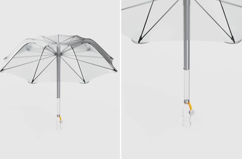 guarda chuva ciclovivo2 - Russo projeta guarda-chuva que capta e purifica água pluvial