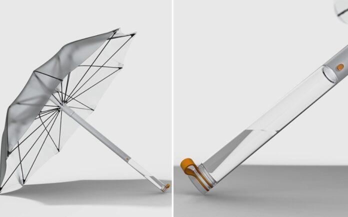 guarda chuva russo 696x434 1 - Russo projeta guarda-chuva que capta e purifica água pluvial
