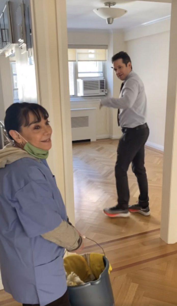 Captura de Pantalla 2021 01 22 a las 09.10.57 scaled - Os vizinhos conseguem um novo apartamento para uma funcionária que perdeu sua casa em uma pandemia. Eles agradecem