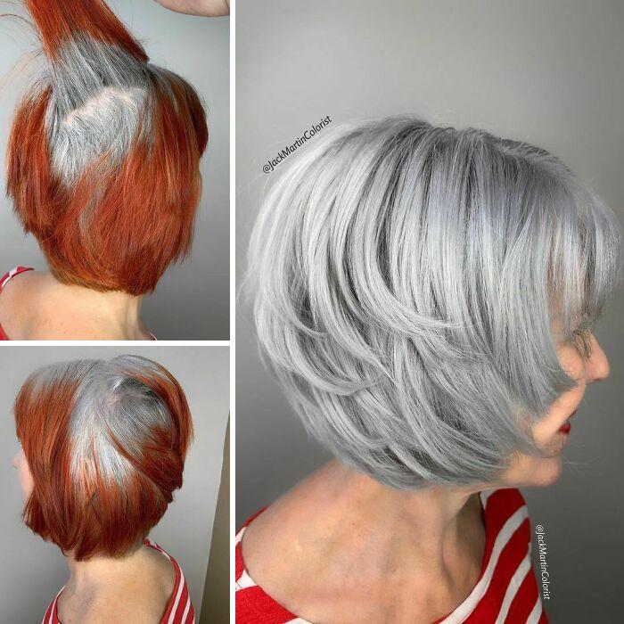 grisalha10 - Revolução grisalha: Orgulhosas, mulheres mostram seus cabelos grisalhos com muito estilo