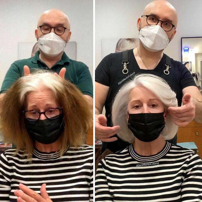 grisalha2 - Revolução grisalha: Orgulhosas, mulheres mostram seus cabelos grisalhos com muito estilo