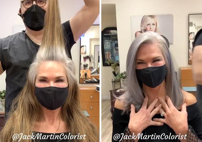 grisalha4 - Revolução grisalha: Orgulhosas, mulheres mostram seus cabelos grisalhos com muito estilo