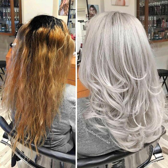 grisalha5 - Revolução grisalha: Orgulhosas, mulheres mostram seus cabelos grisalhos com muito estilo