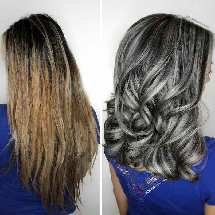 grisalha6 - Revolução grisalha: Orgulhosas, mulheres mostram seus cabelos grisalhos com muito estilo