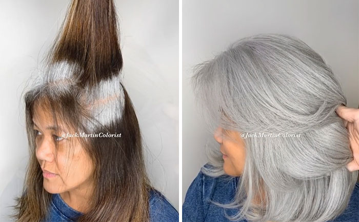 grisalha7 - Revolução grisalha: Orgulhosas, mulheres mostram seus cabelos grisalhos com muito estilo