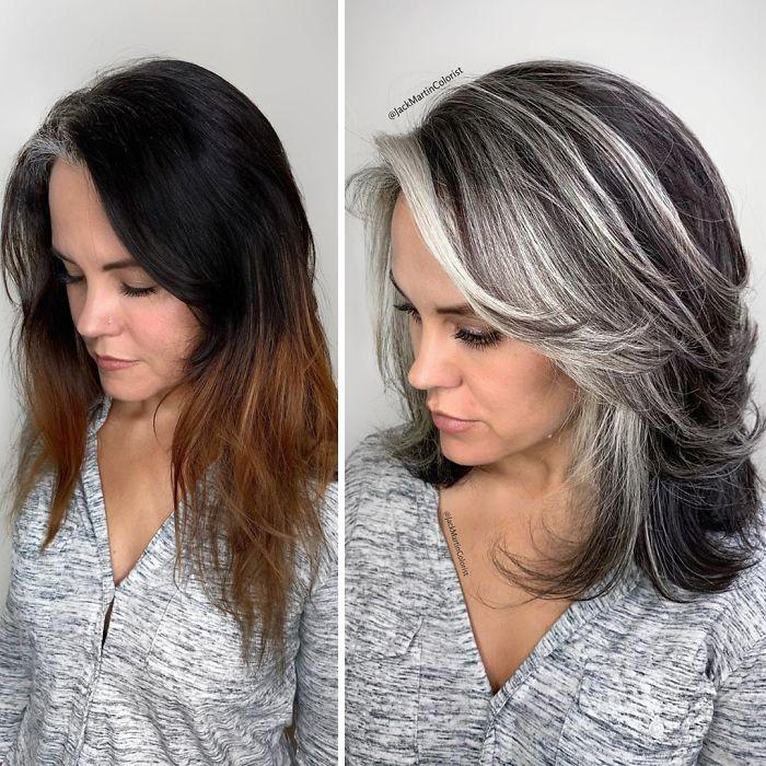 grisalha8 - Revolução grisalha: Orgulhosas, mulheres mostram seus cabelos grisalhos com muito estilo
