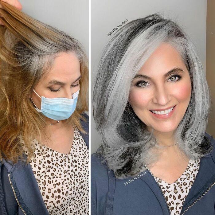 grisalha9 - Revolução grisalha: Orgulhosas, mulheres mostram seus cabelos grisalhos com muito estilo