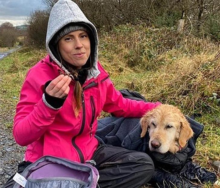 perro rescatado montaña0001 - Cachorrinha é carregada por mais de 10km quando a viram perdida em 'Não podíamos deixá-la sozinha'